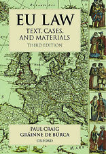 EU Law, 3rd Ed, de Burca, Grainne, Craig QC, Paul | Paperback Book | Good | 9780