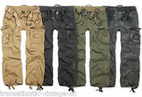 BRANDIT ROYAL VINTAGE CARGO PANTS MENS DELUXE CLASSIC ARMY COMBAT TROUSERS