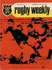Athletic, Petone, Oriental-Rongotai 28 Jul 1973 Wellington NZ Rugby Programme