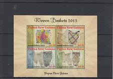Papua New Guinea 2013 MNH Woven Baskets 4v M/S Common Sepik Carry Manus