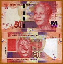 South Africa ND (2012) Nelson Mandela 50 Rand - Lion image -UNCIRCULATED -P NEW