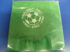 Italy Azzurri Blues FIFA World Cup Soccer Sports Party Paper Luncheon Napkins