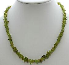Wunderschöner Edelstein Splitterkette Peridot kette getrommelt ca,45cm  grün neu