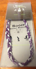 """ENERGY NECKLACE BY BOOST PURPLE AND WHITE 18"""" POWER OF TITANIUM"""