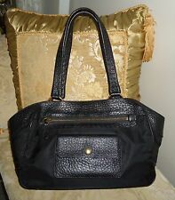 Genuine PRADA Black Leather Tessuto Nylon Handbag w Sleeper & Authenticity Card