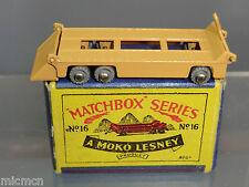 MATCHBOX Lesney Moko modello No.16a TRASPORTO RIMORCHIO Nuovo di zecca con scatola