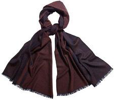 Hogarth 100% Merino Wool Navy & Brown Polka Dot Long Scarf BNWT 60cm x 184cm