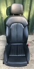 AUDI A6 C7 O/S DRIVER SIDE FRONT LEATHER SEAT IN BLACK 2011-2016