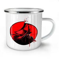 Japanese Warrior NEW Enamel Tea Mug 10 oz | Wellcoda