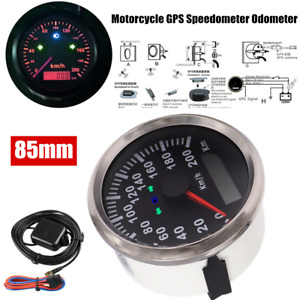 85mm Motorcycle GPS Speedometer 200km/h w/Backlight for Motorbike Boat Car IP66