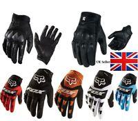 Motorbike Motorcycle Gloves Short Leather Protection Bomber full finger