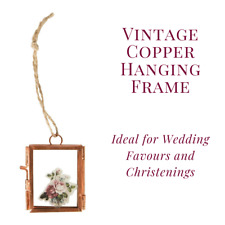 Vintage Copper Finish Mini Hanging Picture Photo Frame Iron Metal Small Favours