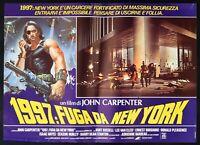 Fotobusta 1997 Fuga For New York John Carpenter Kurt Russell Lee Van Cleef A R42