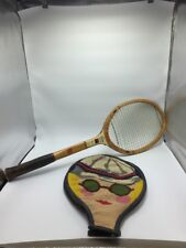 VTG Wilson Billie Jean King Signature Tennis Racquet Knitted Leather Case