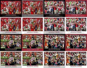 Alabama National Champions Crimson Roll Tide College Football 8x10-48x36 CHOICES