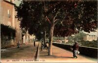 Vintage Postcard The Boulevard Thiers Grasse France Unposted