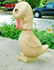 ANTIQUE EARLY 1900'S PAPER MACHE DUCK CANDY CONTAINER 9.75 INCHES