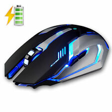 GB dunhan-x7 RICARICABILE MUTE 7-Color 1600DPI USB Wireless Optical Gaming Mouse