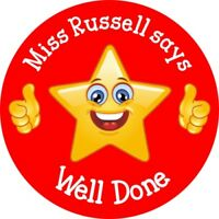 Personalised Reward Stickers - Well Done Teachers Mums Childminders Nurseries