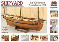"""Beautiful, New model ship kit by Shipyard: the """"Le Coureur"""""""