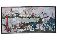 Très grand tableau de George DELAW, pièce unique d'une exceptionnelle rareté