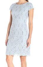 Alex Evenings Cap sleeve Tiered Hem Sequined Sheath Dress Size 14Petite