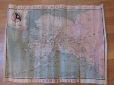 Antique Map PACIFIC ALASKA NAVIGATION COMPANY THE ADMIRAL LINE Map Brochure