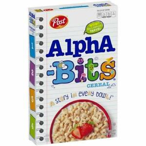 Post Alpha Bits Cereal 12 oz PACK OF 3 DISCONTINUED