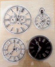 Steampunk Horloge Visage clair montre timbre temps timbres Seal Silicone cartes
