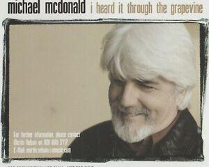 Michael McDonald- I Heard It Through The Grapevine UK promo cd single