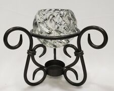 Candle Holder Bronze Wrought Iron Rustic Metal Crystal PartyLite