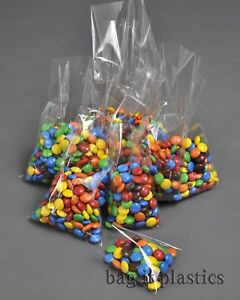 CELLOPHANE SWEET BAGS CRYSTAL CLEAR CELLO CANDY  DISPLAY LOLLIPOP BAG FOOD SAFE