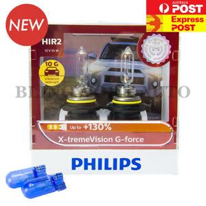 FREE T10 PHILIPS HIR2 9012 X-treme Vision G-Force +130% Headlight Bulbs extreme