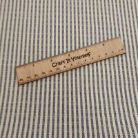 Navy Blue Cream stripe Canvas Cotton Fabric 55 inch / 140cm vintage traditional