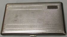 """VINTAGE POLO SILVER TONED METAL CIGARETTE CASE, ENGLAND, 5.5"""" x 3.2""""  USED - VG"""