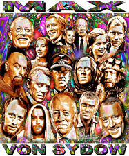 """""""MAX VON SYDOW"""" IN MEMORIAM TRIBUTE T-SHIRT OR PRINT BY ED SEEMAN"""