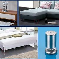 Stainless Steel Adjustable Furniture Legs Metal Round Sofa Table Cabinet Feet Q