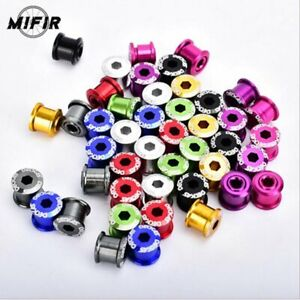 4X DECKAS BICYCLE CHAINSET BOLTS SCREW FOR SINGLE CHAINRING ALLOY FIXIE ROAD MTB
