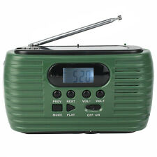Retekess Portable FM/AM Radio Hand Crank Solar Power with Cellphone Charger USB