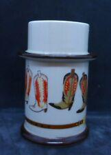 Davir Art Pottery Votive Taper Candle Holder Cowboy Boots Decoration