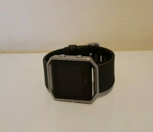 Fitbit Blaze Smart Watch Fitness Activity Tracker Black Band Large (NO CHARGER)