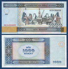 ASERBAIDSCHAN  / AZERBAIJAN 1000 Manat  2001 UNC  P. 23
