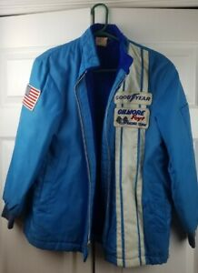 Vintage  A.J. Foyt Gilmore Racing Team Blue Jacket, Coyote Enterprises, Size 16