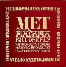 "MET HISTORIC BROADCAST PUCCINI MADAMA BUTTERFLY-NM1975 3LP ""VEVET"" BOX LTD ED"