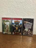 Sony PSP Death Jr., Ratchet & Clank Size Matters, Daxter NEW SEALED LOT OF 3