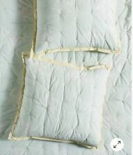 Anthropologie Rosalind Euro Sham 26 in color Mint accent color Yellow
