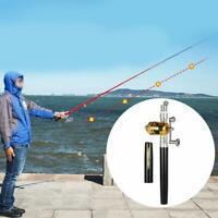 Tragbare Angelrute Set Mini Pen Shape Fischstange mit Angelrolle Angelschnur