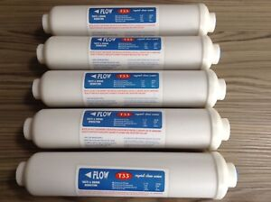 5 x Inline Fridge Water Filter External  compatible with Samsung  Hotpoint etc