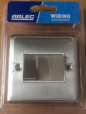 Arlec Metal Screw 10A 3 Gang 2 Way Switch Stainless Steel Finish