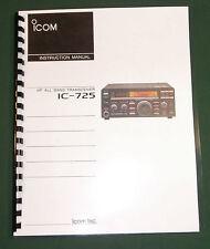 Icom IC-725 Instruction Manual - Premium Card Stock Covers & 32lb Paper!